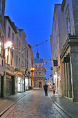 St Peter Port, Guernsey : the High Street at night